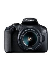Canon EOS 2000D DSLR Camera with 18-55mm DC III Lens Kit, 24.1 MP, Black