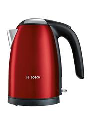 Bosch 1.7L Stainless Steel Water Kettle, 3000W, TWK7804GB, Red/Black