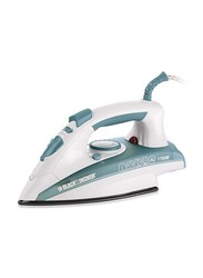 Black+Decker Steam Iron, 1600W, X1600, Green/White