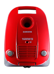 Samsung Canister Vacuum Cleaner, SC4130, Red