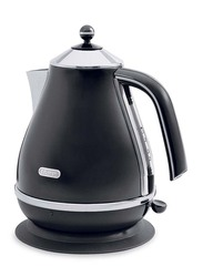Delonghi 1.7L Electric Stainless Steel Jug Kettle, 3000W, KBO3001.BK, Black
