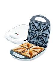 Clikon 4 Slice Sandwich Maker, 1100W, CK2426, White