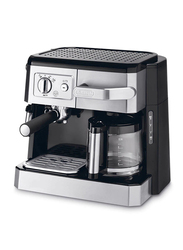 Delonghi 1.2L Electric Stainless Steel Pump and Drip Coffee Machine, 1750W, BCO420, Black