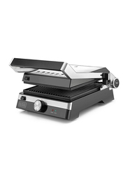 Black+Decker Aluminium Health Grill, 2000W, CG2000, Silver/Black