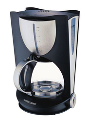 Black+Decker Electric Plastic Coffee Maker, 1050W, DCM 80, Black/Grey