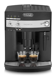Delonghi 1.8L Magnifica Bean to Cup Electric Plastic Espresso Coffee Machine, 1350W, ESAM3000.B, Black