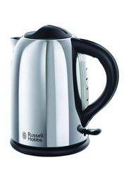 Russell Hobbs 1.7L Electric Stainless Steel Chester Kettle, 2400W, 20420, Silver/Black