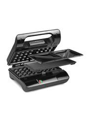 Princess Multi & Sandwich Grill Compact Pro, 700W, PRN117002, Black