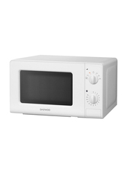 Daewoo 20L Microwave Oven, 700W with Dual Wave System, KOR6607, White