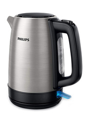 Philips 1.7L Daily Collection Electric Stainless Steel Kettle, 2200W, HD9350, Silver