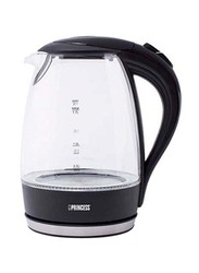 Princess 1.7L Electric Glass Jar Kettle, 2200W, PRN.236019, Clear