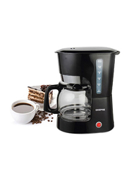 Geepas 1.5L Electric Glass Coffee Maker, 900W, GCM6103, Black