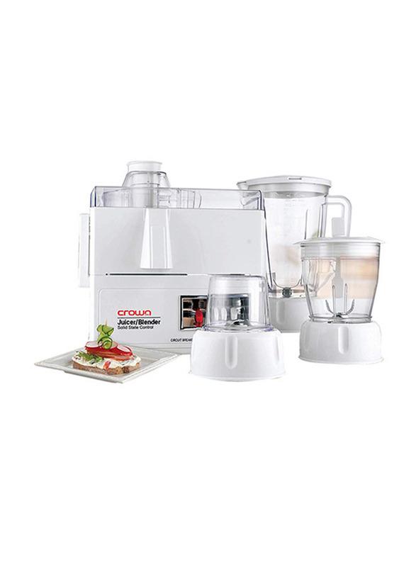Crownline 1.6L Food Blender, 400W, FP-165, White
