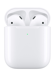 Apple AirPods Wireless In-Ear Headphones with Wireless Charging Case, White