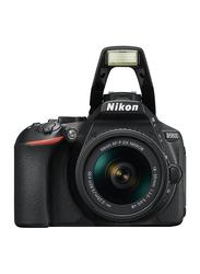 Nikon D5600 DSLR Camera with AF-P DX Nikkor 18-55mm f/3.5-f/5.6G VR Lens, 24.2 MP, Black