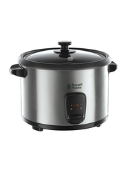 Russell Hobbs 1.8L Rice Cooker with Steamer, 700W, 19750, Silver/Black
