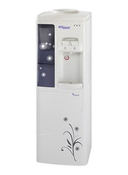 Super General Floor Standing Top Load Water Dispenser, with Refrigerator, Paper Cup Holder, SGL3000, Black