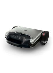 Philips Stainless Steel Health Grill, 2000W, HD4467, Black