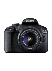 Canon EOS 2000D DSLR Camera with EF-S 18-55mm III Lens, 24.1 MP, Black