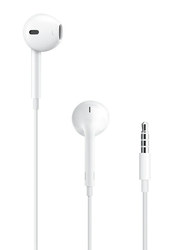 Apple EarPods 3.5 mm Jack In-Ear Headphones with Mic, White