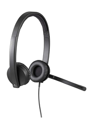 Logitech H570E USB Cable On-Ear Noise Cancelling Stereo Headset, Black