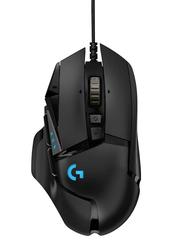 Logitech G502 Hero Gaming Optical Mouse, Black