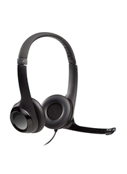 Logitech H390 USB Cable On-Ear Noise Cancelling Stereo Headset, Black