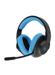 Logitech G Series G233 Over-Ear Noise Cancelling Gaming Headset, Black/Blue