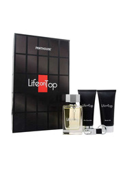 Penthouse 3-Piece Life On Top Gift Set for Men, 125ml EDT, After Shave Balm, Shower Gel