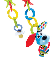 YooKidoo Clips Rattle N Links Car Seat Accessories, Dog, Multicolor