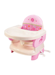 Summer Infant Deluxe Comfort Folding Booster Seat, Pink Happiness