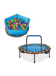 SmarTrike 3-in-1 Trampoline Activity Center with 100 Colorful Balls, Multicolour