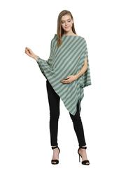 Pluchi Kia Maternity Poncho for Women, Green/Mint