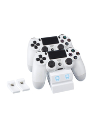 Venom Twin Docking Station for PS4, White
