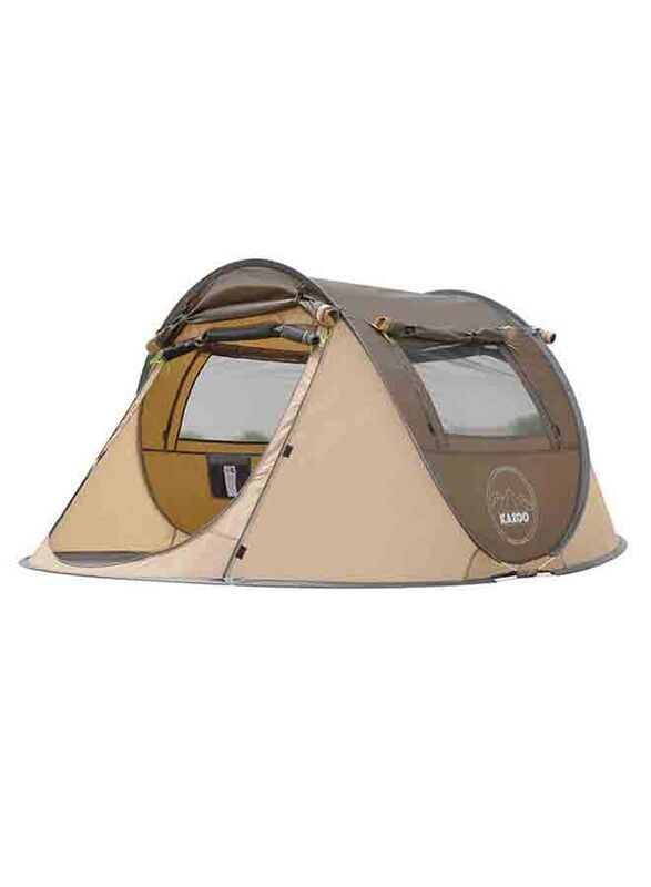 Kazoo 6 Person Pop Up Tent, Coffee Brown