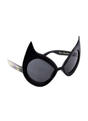 Sun Staches Officially Licensed Cat Woman Sunglasses for Kids/Adults, Black/Grey
