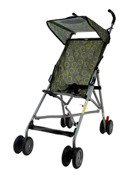 Cuddles Buggy Baby Stroller with Canopy, Grey/Green