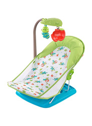 Summer Infant Small Baby Bather with Toy Bar, Green/White/Blue
