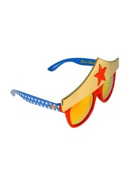 Sun Staches Officially Licensed Star Wonder Woman Sunglasses for Kids/Adults, Yellow/Red/Blue