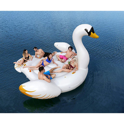 Bestway Swan Party Island Lounge Ride-On Floater, 429 x 330cm, White