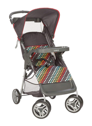 Cosco Lift & Stroll Rainbow Dots Baby Stroller, Multicolor