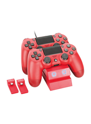 Venom Twin Docking Station for PS4, Red