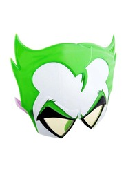 Sun Staches Officially Licensed Joker Sunglasses for Kids/Adults, Green/White