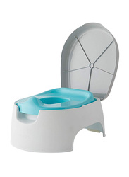 Summer Infant 2-in-1 Step Up Potty Seat, Grey/Blue/White