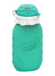 Squeasy Gear Snacker Bottle 175ml, Aqua Blue