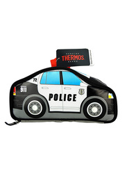 Thermos Lunch Kit, Police Car Novelty, Black