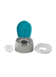 Summer Infant 3-in-1 Train with Me Potty Seat, Blue/Grey/White