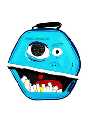 Thermos Lunch Kit, Fun Faces Novelty Hexagon, Blue