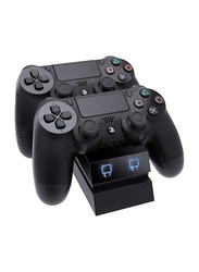Venom Twin Controller Charger Dock for PS4, Black