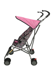 Cuddles Buggy Multi Geometric Baby Stroller with Canopy, Pink/Grey/Black